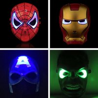 Wholesale Halloween Mask Luminous - High Quality LED Mask LED Film Mask Cartoon Luminous Mask Glow Flash for kids Christmas Halloween Cosplay props Free Shipping