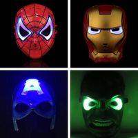 Wholesale High Led Christmas - High Quality LED Mask LED Film Mask Cartoon Luminous Mask Glow Flash for kids Christmas Halloween Cosplay props Free Shipping