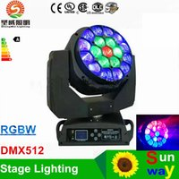 Wholesale Moving Eyes - Newly Bee Eyes LED Moving Head stage lighting DMX512 19 X15W 280W RGBW 4 IN 1 DJ lamp Super effect LED stage lights