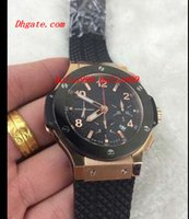Wholesale New Px - Luxury Watches Rubber Bracelet 18kt black Chronograph Automatic 44.5mm 301.PX.130. MAN WATCH Wristwatch