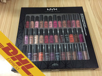 Wholesale Soft Photo - NYX Makeup 36 PCS Soft Matte Lip Cream Vault Charming Long-lasting Daily Party Brand Glossy Makeup Lipstick nyx Cosmetics Real Photos