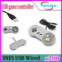 200PCS 2016 Color Controller retro retro clásico del USB Gamepad Joypad Joystick para Nintendo SNES SF Para PC con Windows para los / -MAC ReplacemeZY-PS3-17