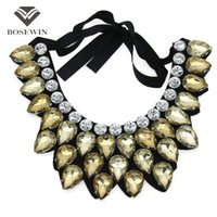Wholesale bijoux tibet online - Women Handmade Exaggerate Crystal Big Necklace Hi Q Collar Fashion Statement Necklaces Maxi Jewelry Bijoux femme CE4118