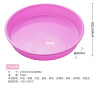 Wholesale Silicone Tart Pans - Fashion Hot Round Silicone Pizza Pan for Baking Wedding Cake Pizza Pie Bread Loaf for Microwave Oven