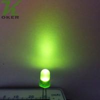 ingrosso lampada diffusa-1000pcs 5mm verde diffuso LED Light Lampada led Diodi 3mm Diffuse greenUltra Bright Round LED Light Spedizione gratuita