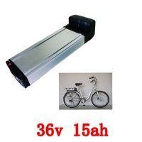 Wholesale 36v li ion battery charger - Hot sale rear rack 36v 15ah lithium battery 36v 15Ah electric bike li-ion battery+charger ebike akku