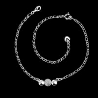 Wholesale Beads Display Designs - Free Shipping Fashion New Brand Design Luxurio silver plated bracelet anklets Beads connected leg bracelet jewelry display