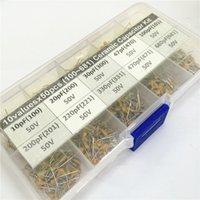Wholesale Electrolytic Capacitor Box - Wholesale- 500pcs 10Valuesx50 10pF~680pF (100~681) Multilayer Monolithic Ceramic Capacitor Assorted kit with storage box