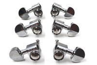 Wholesale Tuner Pegs - Wholesale- Grover Style Silver Semicircle Guitar Tuning Pegs Tuners Machine Head 3L+3R Free Shipping Wholesales