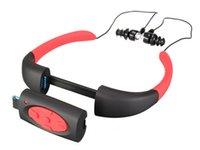 reproductor de video multimedia al por mayor-Venta caliente 8 GB Reproductor de música MP3 a prueba de agua Submarino Surfeo Buceo Banda para el cuello Deportes Estéreo Auricular Spa Surf Scuba Manos libres