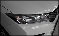 şehir lambaları toptan satış-Yüksek kaliteli ABS krom 2 adet ön far trim + Honda City 2015 Için 4 adet kuyruk lambası trim