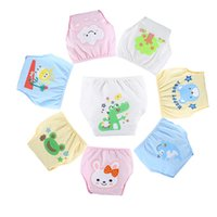 Wholesale Toddler Cloth Nappies - 3PCS LOT Cartoon Cotton Infants Baby Training pants Waterproof Diaper pant Potty Toddler panties New underwear Reusable Free shipping