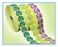 ingrosso etichette viniliche-adesivo tondo personalizzato adesivo in vinile adesivo con etichetta adesiva