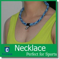 Wholesale Sports Titanium Necklaces New Colors - HOT!fashion jewelry 3 rope braid necklaces many new colors Sports Titanium OEM the size