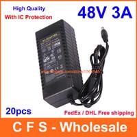 Wholesale 48v dc power supplies resale online - 20pcs AC V V Converter DC V A Power Supply Adapter W Adaptor High Quality
