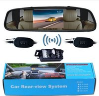 "Wholesale Rearview Mirror Backup Camera Kit - Car Rearview Kit 4.3"" Rearview Mirror Monitor Wireless Nightvision Backup Camera"