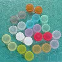 Wholesale Plastic Contact Lens Box Holder Portable Small Lovely Candy Color Eyewear Bag Container Contact Lenses Soak Storage Case