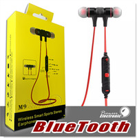 M9 Stereo Bluetooth auricolare Sport auricolari Wireless In Ear Bluetooth 4.0 Build microfono per i telefoni astuti Hi-Fi Music Player