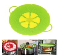 Wholesale Dust Stoppers - Flower Petal Boil Spill Stopper Silicone Lid Pot Lid Cover Silicone Spill-proof and Dust-proof Pot Cover Kitchen Tool KKA1344