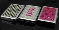 Wholesale CM New Pocket tinplate Cigarette Case Plated Tobacco Case Box Holder Cigar Smoke smoking grinder