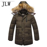Wholesale Childrens Down Jackets - Wholesale-2016 new boys winter jacket childrens clothing boys parka down jacket big boy jacket long sections genuine thick winter jackets