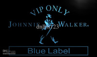 Wholesale Only Place - LA480-TM VIP Only Johnnie Walker Blue Label Neon Sign. Advertising. led panel