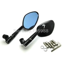 Wholesale Suzuki Motorcycles Mirrors - Aluminum Motorcycle Side Mirrors Motorbike Scooter Rearview Rear Mirror For honda yamaha Kawasaki z750 Suzuki Ducati