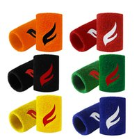 Wholesale Orange Sweatbands - FANGCAN High Quality Terry Cloth Breathable Sweatband Unisex Sweat absorption Basketball Tennis Badminton Running Sports Support