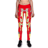 Wholesale Pant Yoga Men White - NEW 0024 Sexy Girl Women Comics The Avengers Iron Man 3D Prints High Waist Running GYM Tights Fitness Sport Leggings Yoga Pant