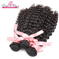 "Wholesale Remi Curly - 100% Cambodian Human Hair Weave Double Weft Extensions 8""~30"" Unprocessed Remi Hair 3pcs Natural Color Dyeable 7A Curly Wave Hair extension"