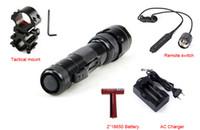 Wholesale Pressure Switch Flashlight - Portable 502B Lanterna XM-L T6 5 Mode LED Tactical Flashlight Torch Hunting Bike Light + Remote Pressure Switch+ Mount