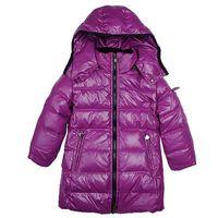 chicas largas abrigos de invierno venta al por mayor-5 colores de la marca de invierno abajo abrigo caliente niños con capucha largas chaquetas para niños niñas ropa al por menor abrigos moda infantil venta