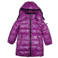 Wholesale Girl S Long Coat Down - 5 Colors Brand Winter Down Coat Warm Kids Hooded Long Jackets for Boys Girls Clothes Retail Outerwear Children Fashion Sale