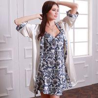 7f3cc1f01cf HL7711 New Imitated Silk Robe Sets