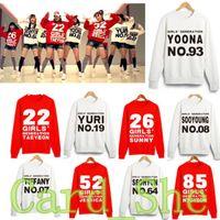 Wholesale Girls Generation Snsd - Wholesale- KPOP Girls' Generation Hoody Sweatershirt Uniform Costume SNSD TaeYeon Yoona brand woman sweatershirts New