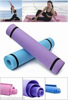 Wholesale New mm Thick Yoga Mat Non slip Slip resistant Bodybuilding Exercise Fitness Pad Gymnastics Lose Weight Sport Tool