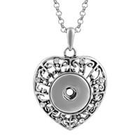 ingrosso i monili del tasto di schiocco di vocheng-Vocheng NOOSA Collana con pendenti con bottone a scatto in metallo con gioielli in cristallo intercambiabili Jewerly