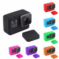 Wholesale hard lens cases - For Sport Camera Accessories for Action Camera HERO5 Soft Silicone Protective Case with Lens Cover for Sport Camera Hero 5 Black Edition
