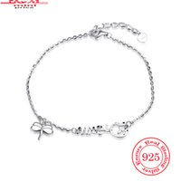 Wholesale Dragonfly Fishing - Exquisite Dragonfly Sterling Silver Charm Chain Bracelets For Women Designer Silver Wedding Jewelry Insect Bracelet Girlfriend Birthday Gift