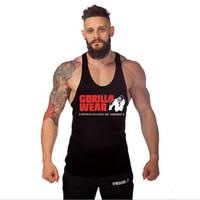 Fitness Men Stringer Cotton Gym Tank Top Singlet Bodybuilding Sport Undershirt Clothes Gym Vest Muscle Man