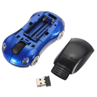 Wholesale Blue Car Wireless Mouse - Brand New Top Quality Blue 3D Car Shaped 2.4G Wireless 1600DPI USB Car Shaped Optical Mouse Mice For Computer laptop Notebook