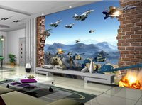 Wholesale country style wedding decorations - 3d wallpaper custom photo non-woven mural European battlefield broken wall decoration painting picture 3d wall room murals wallpaper