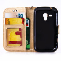 Wholesale Cases Galaxy S Duo 7562 - for Samsung Galaxy S Duos S7562 7562 GT-S7562 Flip Case Phone Leather Cover for Galaxy Trend II 2 Duos S7572 S 7572 GT-S7572 bags
