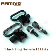 "Wholesale Tactical Rifle Gun Sling - Armiyo Tactical 1"" 25.4mm Gun Sling Swivels Wood Screws Fit Most bolt action with fore end wood at least 5 8"" Deep Hunting Rifles 1311-2"