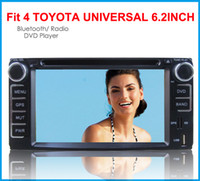 Wholesale Multimedia Car Corolla - 2017 10pcs Toyota universal rav4 prado corolla camry hilux land cruiser car dvd bluetooth tv gps player free map 200*100CM multimedia stereo