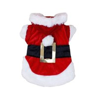 Wholesale New Christmas Dog Clothes Santa Claus Doggy Costumes with waist belt design winter outfit Jacket coat for pet drop shipping Christmas Hallow