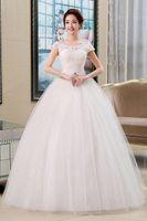 Wholesale Cheap Elegant Short Dresses - 2016 Wholesale Cheap Wedding Dress Bride Marrige White Lace Elegant Simplicity Beaded Crystal A-line Wedding Gown Vestido De Noiva