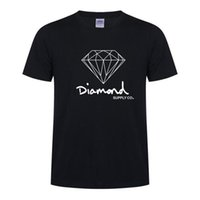 Wholesale Polyester Cotton Shirt - Diamond Supply Co New Summer Cotton Mens T Shirts Fashion Short-sleeve Printed Male Tops Tees Skate Brand Hip Hop Sport Clothes D15
