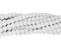 "Wholesale Neon Loose Beads - A Strand 32"" 6mm Matte Neon Frosted Glass Round Spacer Beads Loose Beads For DIY Jewelry Making Bracelets"