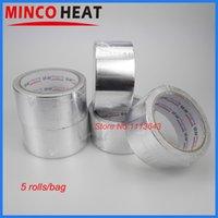 ruban résistant à l'eau achat en gros de-Vente en gros-48 CM largeur résistant à l'eau haute température résistant à la bande d'étanchéité auto-adhésif en aluminium bande 5 rouleaux